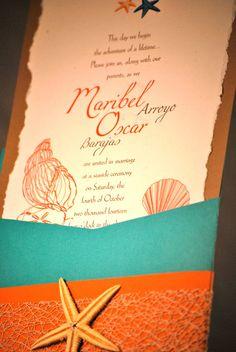 Beach Theme Wedding Invitation on Etsy, $4.25