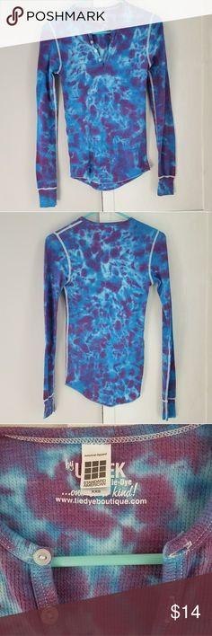 Tie dye thermal Tie dye thermal, xxs Tops Tees - Long Sleeve
