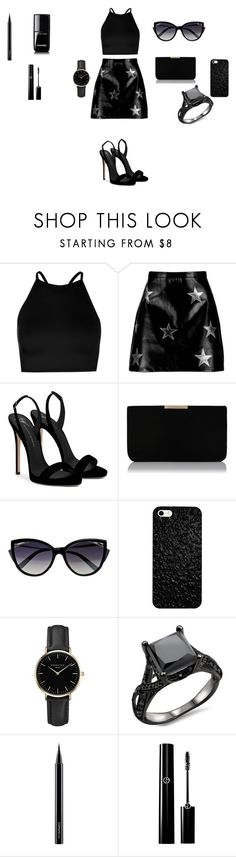 """#indie #black"" by czimerpetra on Polyvore featuring Boohoo, Giuseppe Zanotti, L.K.Bennett, La Perla, ROSEFIELD, MAC Cosmetics and Chanel"