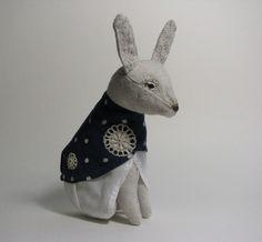 Snowflake rabbit by Paulina Temmes. Paulina, this is so wonderful!