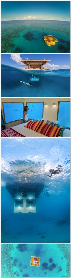 Manta Underwater Hotel Room in Zanzibar