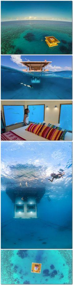 Manta Underwater Hotel Room in Zanzibar