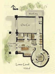storybook cottage house plans- very cool website for small house plans I love this design, I would want less of a castle feel, but I love the layout and the tower!
