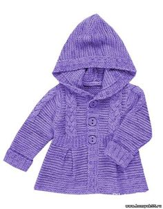 вязаный жакет пальто для девочки