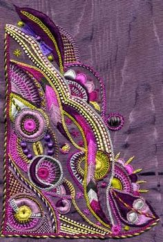unsung artists of the fabric kind. Types Of Embroidery, Silk Ribbon Embroidery, Crewel Embroidery, Cross Stitch Embroidery, Embroidery Patterns, Machine Embroidery, Art Du Fil, Sewing Art, Fabric Art