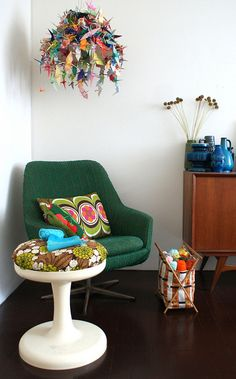 crochet corner by Ingthings, via Flickr  What's not to love...may need to get my paper crane on