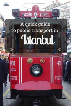 Guide to public transport in Istanbul