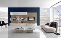 Executive Dark Blue Living Room Design Ideas