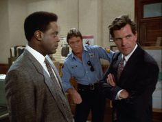 "Howard Rollins as Virgil Tibbs. Alan Autry as Bubba Skinner. Christopher Allport as D.A. Myron Dutton. - ""In the heat of the night."""