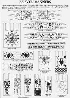 skaven clanrats coloring pages | Pin by TheScarredHorn on Skaven | Banner, Decals ...