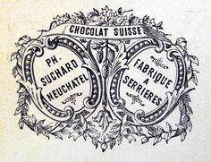 Postal etiqueta francesa blanco y negro imprimible.