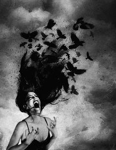 The Undead Chronic Pain Sad Drawings, Dark Art Drawings, Pencil Art Drawings, Art Drawings Sketches, Gothic Drawings, Dark Fantasy Art, Art Triste, Arte Dope, Sad Art