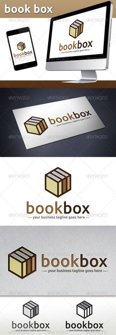 Buy Book Store Logo Template (Book Cube) by BossTwinsMusic on GraphicRiver. - Three color version: color, greyscale and single color. - The logo is resizable. - You can change text and col. Logo Design Template, Logo Templates, Book Background, Book Wallpaper, Book Logo, Book Design Layout, Unique Logo, Information Graphics, Book Girl