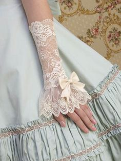 Mary Magdalene Ribbon Lace Cuffs (Long) by pwnpwn, via Flickr