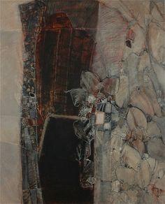 Catherine Severac, atelier: XI - 100x81 - huile sur toile