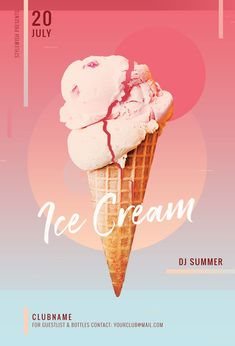 Buy Ice Cream Flyer by styleWish on GraphicRiver. Ice Cream Flyer Template This flyer template is designed to announce a wide range of summertime events: a refreshing . Ice Cream Menu, Ice Cream Logo, Ice Cream Poster, Ice Cream Brands, Ice Cream Party, Food Poster Design, Menu Design, Graphic Design Posters, Ad Design