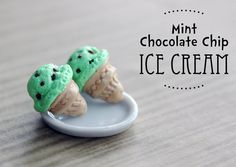 Polymer Clay Miniature Food Jewelry Mint by MySecretCravings, $10.00