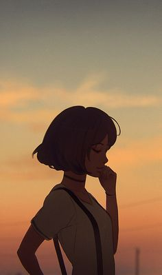 Anime, art, and art girl image Aesthetic Art, Aesthetic Anime, Aesthetic Painting, Aesthetic Drawing, Japon Illustration, Cartoon Girl Drawing, Girl Cartoon, Anime Scenery Wallpaper, Cartoon Art Styles