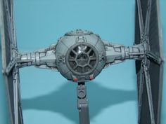 Kit: Bandai Tie Fighter Scale: 1/72Paints: Tamyia xf-82 Ocean Grey, xf-54 Dark Sea Grey, xf-63 German Grey, xf-85 Rubber Black, Vallejo 71120 USAF Medium Gr...