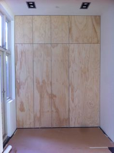 wall to wall to ceiling Basement Bedrooms, Home Bedroom, Closet Minimalista, Plywood Design, Entry Closet, Plywood Walls, Creative Office Space, Cupboard Shelves, Bedroom Cupboard Designs