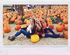 Photos: Caroline Sunshine With A Friend At The Pumpkin Patch October 2014 Fall Family Photos, Fall Photos, Fall Pics, Family Pictures, Halloween Photography, Autumn Photography, Photography Ideas, Pumpkin Patch Pictures, Pumpkin Pics