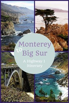 Here's another Coastal California road trip itinerary: Monterey to Big Sur. A California Highway 1 Itinerary Be sure to add Monterey bay Aquarium to your list. Driving Highway 1 is a fun California travel experience.