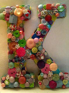 "Button Initial ""K"" • Custom #DIY"