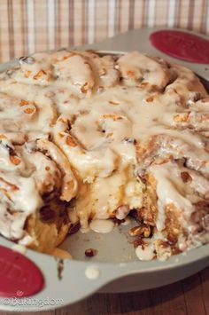 Easy Homemade Maple Pecan Cinnamon Rolls - no yeast involved - so from start to finish - and in your mouth - just under 1 hour. YUM!
