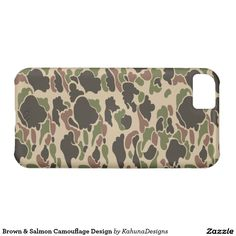 Brown & Salmon Camouflage Design iPhone 5C Case