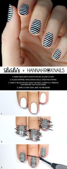 Black-and-White-Striped-Nail-Tutorial.jpg 763×1,904 pixels