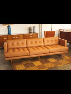 Bespoke Hollywood Sofa In Vera Pelle Leather Angelucci 20th Century Lounge Design Custom
