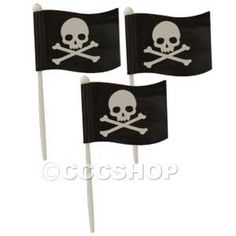 Pirate Skull and Crossbone Flag Picks