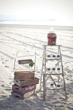 Step Ladder & cola crate Vintage inspiration