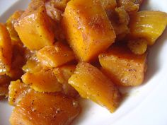 "Caramelized Butternut Squash- Barefoot Contessa. Another pinner wrote ""I made this for dinner tonight and it should be illegal"". http://smellslikehome.wordpress.com/2009/11/03/bb-brc-caramelized-butternut-squash/"