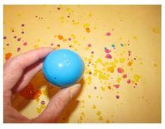 Paint+plastic egg+shake