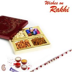 Picture of Festive Box with Dry fruits and Chocolates