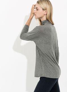 Women's Drop Shoulder Turtleneck | Ashbury Long Sleeve
