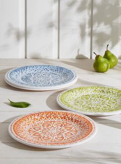 Set of 4 Valencia Dinner Plates Multi melamine picnic plates & Set of 4 Valencia Side Plates Multi melamine plates bhs | Home ...