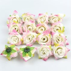 Silk Flowers in Bulk Wholesale Artificial Silk Rose Flower Head Decorative DIY F