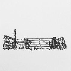 Fence on the Isle of Man.  #art #pen #ink #isleofman #sketch #sketching #sketchbook #illustration #illustrator #black #white #drawing #drawing #artist #artwork #artsy