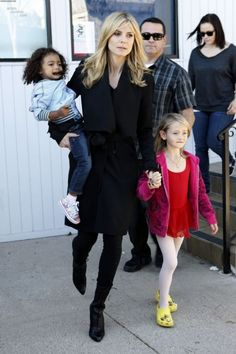 Model Heidi Klum arrived at her children's Karate studio in Brentwood, California on January 28, 2012 for their regular morning class. After announcing that she and her husband Seal are getting divorced she became an even bigger target for the paparazzi who were lined up to get the shots this morning as she arrived.