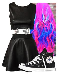 """Untitled #7369"" by imblissedoff ❤ liked on Polyvore featuring Estradeur and Converse"
