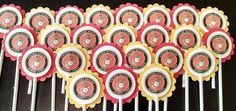United States Marine Corps Cupcake Toppers by KrystalRaeCreations, $7.95