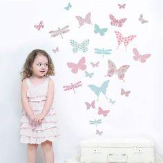 butterfly wall stickers by koko kids   notonthehighstreet.com