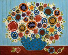 Folk Blooms by Karla Gerard