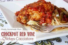Crockpot Red Wine Chicken Cacciatore