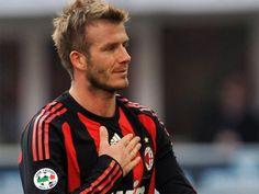 David Beckham with AC Milan
