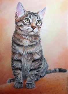 Мастер-класс по рисованию котенка пастелью - Ярмарка Мастеров - ручная работа, handmade