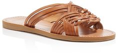 Comfy braided leather flats. Perfect summer shoes. Dolce Vita Jacey Woven Flat Slide Sandals