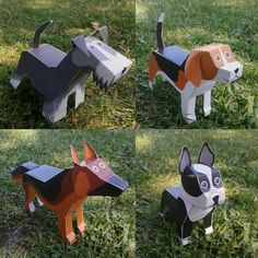 Dogs Paper Toys.